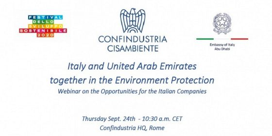 Environment and circular economy in Uae and opportunities for the Italian companies